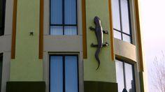 ITAP of a gecko sculpture on a building http://ift.tt/2jdS2lu