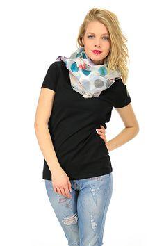 MANILA GRACE - Sciarpe - Abbigliamento - Sciarpa in cotone e seta con fantasia a pois. - MD199 - € 78.00