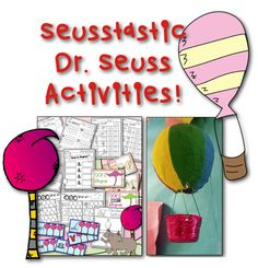 Fun Dr. Seuss activities for kids! Oh The Places You'll Go craft. Dr. Seuss bundle: https://www.teacherspayteachers.com/Product/Going-Places-Dr-Seuss-Inspired-Literacy-Math-Activities-w-Rhyming-Game-1712283