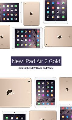 New iPad Air 2 WiFi Gold 16gb - Gold is the NEW black and white.