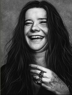 Janis Joplin...I love this picture. You can tell that she was laughing:)