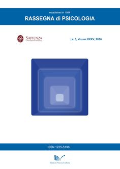 RIVISTA RASSEGNA DI PSICOLOGIA VOL 3 - 2016 di AUTORI VARI. PSYCHOMETRIC PROPERTIES OF THE SEXTING MOTIVATIONS QUESTIONNAIRE FOR ADOLESCENTS AND YOUNG ADULTS/ PROPRIETÀ...