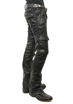 Fake Horsehide Jersey Cargo Pants