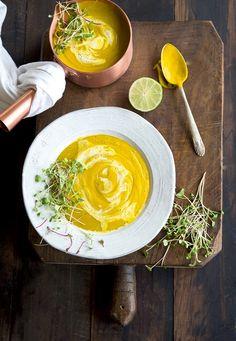 Thai Red Curry Coconut Kabocha Squash Soup #recipe