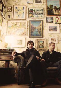 Sherlock - Benedict Cumberbatch and Martin Freeman