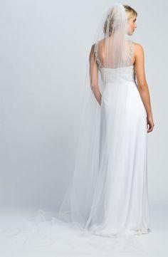 'Claire' Veil $150, White