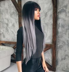 Look at this beauty @natali_danishis rocking the grey Ombre Synthetic Wigs with Bangs.Do you want try this one?wig sku:edw1018 Use Coupon Code: INS to get 10% Off on your order. www.everydaywigs.com#everydaywigs#bangs#wig#hairstyle#hairstyleforgirls#straightwig#ombrewig#longhair#hairstyles#lacefrontwig#beauty#frontlacewig#frontlacewigs#syntheticwigs#synthetic#beauty#instyle#2017hair