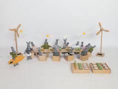jouet bois écologique petite éolienne