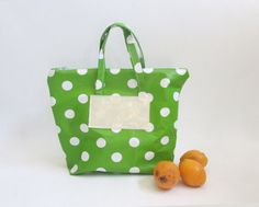 Reusable Lunch Bag Oilcloth Bag Food Storage Bag by shiraproducts