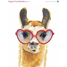 Llama Watercolour PRINT - 8x10 Art Print, Heart Shaped Glasses, Llama... (59 BRL) ❤ liked on Polyvore featuring home, home decor, wall art, filler, watercolor illustration, watercolor wall art, paper wall art, heart illustration and heart wall art