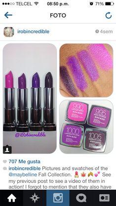 ℘íηтεяεsт:⚘qωε3ηв⚘ ♕  Lipstick swatches maybelline