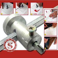 Cortador De Vidro Circular Compasso Vidraceiro Artesanato no Small Tools