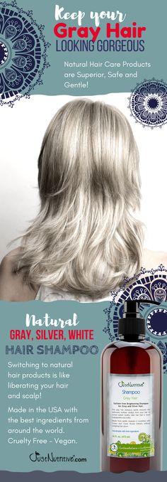 Natural Solutions. Gray Hair Shampoo. https://justnutritive.com/gray-hair-nutritive-shampoo/