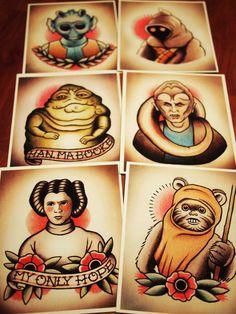 Star Wars traditional tattoo