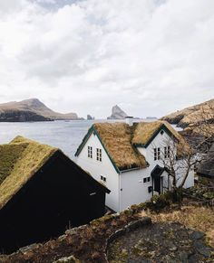 No such thing as a bad view in the Faroe Islands. #getoutdoors #upknorth Turf roof living shot by @lyesk (at Faroe Islands)