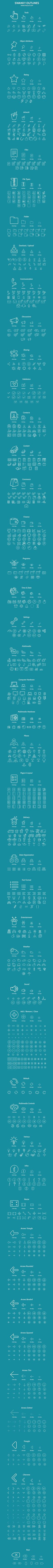 A vector outline icon set that will fit like a glove on your flat or metro designed website or application. One thing is for certain, the 700 icons divided in 45 categories for easy finding will finally satisfy your icon needs. You name an icon and we bet…