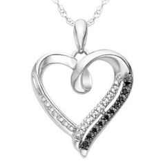 Sterling Silver White Round Diamond Heart Pendant cttw) - This stunning heart pendant of cttw. white Round Shaped Diamonds set in a sterling silver design. This pendant will be a great gift for her on any occasion. Heart Pendant Necklace, Pendant Jewelry, Gold Jewelry, Initial Necklace, Heart Jewelry, Heart Necklaces, Pretty Necklaces, Diamond Necklaces, Women's Jewelry