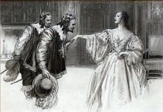musketeers | The Three Musketeers (Original) (Signed) art by John Millar Watt