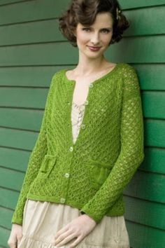 Greensleeves Cardigan in COTTON CLASSIC LITE #free_pattern
