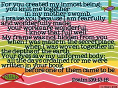 Each individual is valuable to God.  Let's spread the news of His love to every people in every nations. Psalm 139:13-16 www.womenforjesus.org