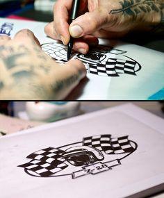 Rebel Race Tattoo Sketch