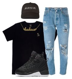 """Let Me Explain x Bryson Tiller."" by myia-bored-ass ❤ liked on Polyvore featuring October's Very Own, Levi's, NIKE and Kris Nations"