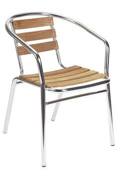 Modern furniture | Contemporary furniture | Nightclub Furniture | Designer Furniture  | Restaurant Furniture | Restaurant Chairs | Restaurant Chair - Model 12629 | Outdoor Aluminum Teak Stacking Chair