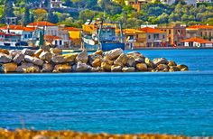 HDR photo from Kardamyla-Chios: HDR photo made from 6 with post processing of PhotoMatix and Photoshop Kardamyla-Chios Chios Greece, Ohio River, Vacation Spots, Dream Vacations, Archipelago, Greek Islands, West Virginia, Cool Artwork, Places To Visit