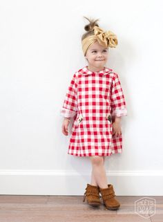 Fleur+Dot Ruby at the Country Fair Peter Pan Collared Dress. $46