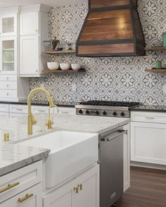 """2,398 Likes, 37 Comments - Cement Tile Shop (@cementtileshop) on Instagram: """"This dream kitchen by @brennakristinedesigns, featuring our in stock Kyra II terrazzo pattern, is…"""""""