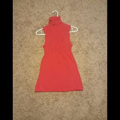 Red baby doll like shape shirt with open back Red baby doll like shape shirt with open back. Small flaw. Pictures. Wet Seal Tops
