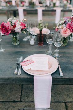 Pink tablescape & floral design   Image by Emily Delamater