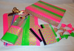 Holy Craft: Updating drab school supplies with Duck Tape® PLUS $100 Walmart gift card giveaway!