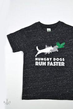 63b49d188 hungry dogs run faster kids tee