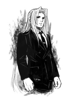 Nothing suits me like a suit - Sephiroth by Crimson Sun