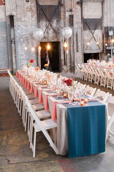 Industrial, modern Hudson Valley fall wedding | Photo by Lisa Berry | Read more - http://www.100layercake.com/blog/?p=76472 #wedding #reception #modern