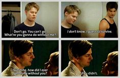 Gale Harold as Brian Kinney and Randy Harrison as Justin Taylor | Queer as Folk (2000-2005) [Brian and Justin are like sooo friggin perfect. Just how even...]
