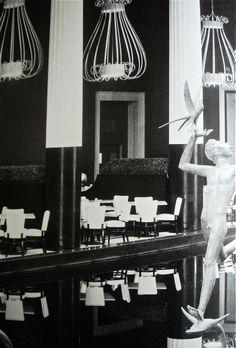 Mid Century Dorothy Draper designed Restaurant at the Met, NYC