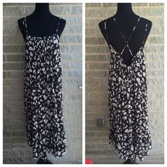 """Kimchi blue boho peasant dress New without tags. Ruffle detail at bottom - black slip dress underneath as shown in photo 2 My dress forms measurements are: bust 34"""", waist 26"""", hips 35""""  Size 6/8 """"medium"""" Kimchi Blue Dresses Maxi"""