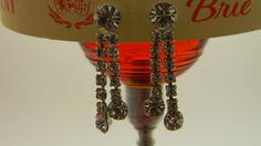 Vintage rhinestone prong set dangle glamour by VogelHausVintage, $12.00 #vintage #rhinestone