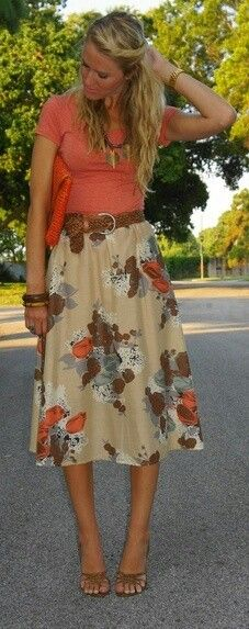 pretty for church in the summer .. love that skirt