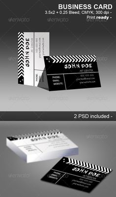 Movie Clapper Businnes Card
