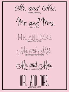 Future Wedding / Free Wedding Fonts for your #DIY #wedding #invitations.