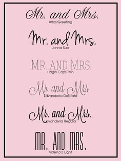 Future Wedding / Free Wedding Fonts for your #DIY #wedding #invitations.
