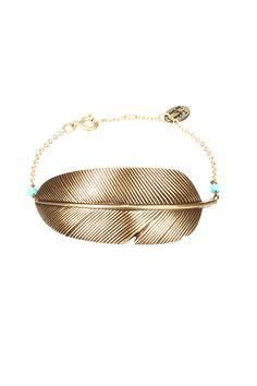 Bracelet Plume Eco Responsable Bronze L'atelier Des Dames sur MonShowroom.com