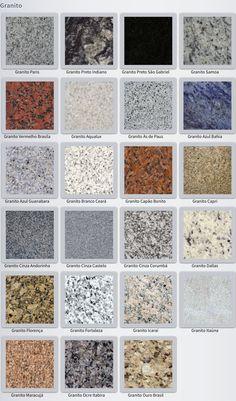 Tipos de granito fotos cores e exemplos para usar na decora o decora o de casas granite - Tipos de granito ...