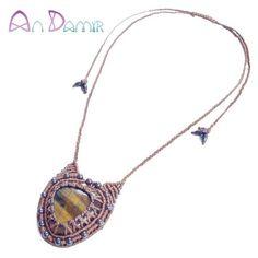 tigeriron pendant necklace