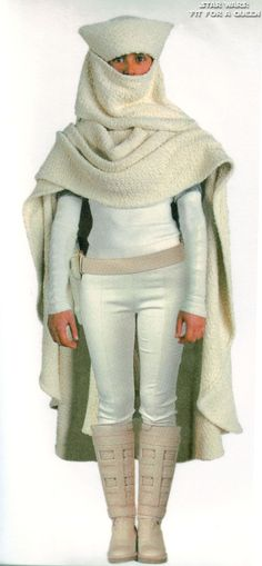 Star Wars Padme Amidala Arena Outfit With Hooded Cloak - Front view