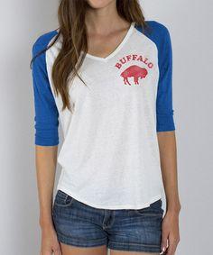 This Buffalo Bills V-Neck Raglan Tee - Women is perfect! #zulilyfinds