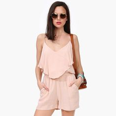 5a9df455168d Aliexpress.com   Buy RICHCOCO New Arrival Summer 2016 Women Jumpsuits Sexy  Backless Butterfly Side Strap V Neck Chiffon Playsuits D484 from Reliable  ...